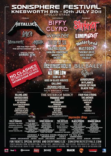 sonisphere festival knebworth metal gigs www.metalgigs.co.uk