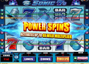 Power Spins Sonic 7s free spins