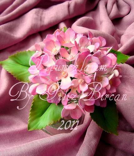 Pembe Ortancalar (Hortensie aus Blütenpaste)