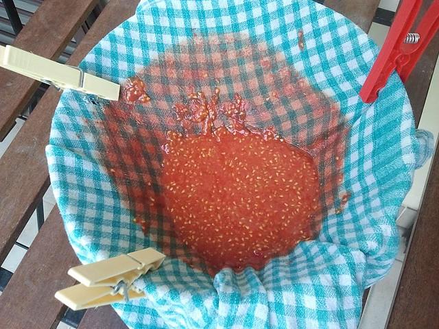 Gravity made tomato sauce