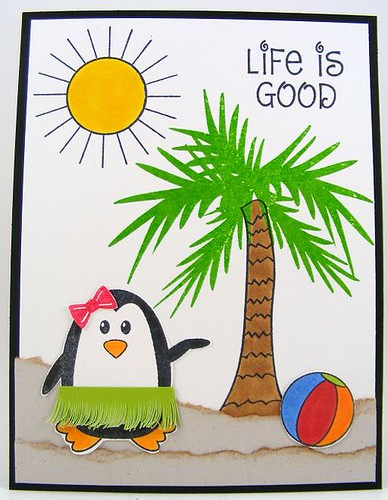 SOL October Hula Penguin Card