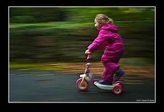 My Scoot on her Scooter (poochphotos) Tags: ireland david scooter jd panning porter technique buncrana codonegal wwwmoodlightphotographycom httpsfacebookcommoodlightphoto