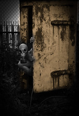 I will come into your nightmare tonight ! (Mr.Shultz) Tags: white black by silent hill inspired rusty objects masks your will horror come nightmare tonight nightmares inspirations sergej my i komkov mrshultz