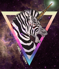 Zebracorn, hellyeah. (Krysten_N) Tags: space zebra unicorn zebracorn