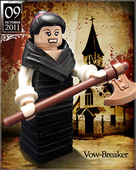October 09 - Vow-Breaker (Morgan190) Tags: black halloween church scary october advent break calendar lego tie creepy axe minifig minifigs custom vows breaker twisty m19 minifigure vow 2011 morgan19 freakishlylongarms morgan190