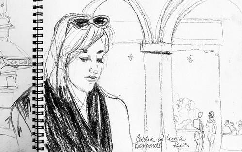 Cecelia at lunch. Bergamote. Paris.