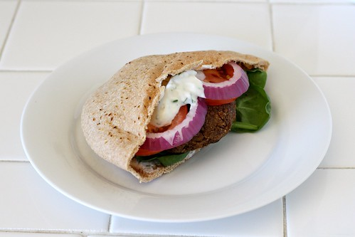Lentil-Walnut Burger