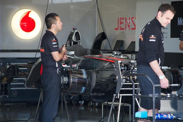 McLaren pit garage