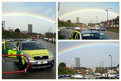 Lovely rainbow today.. (Mike-Lee) Tags: collage rainbow sheffield picasa scout skoda yas rrv