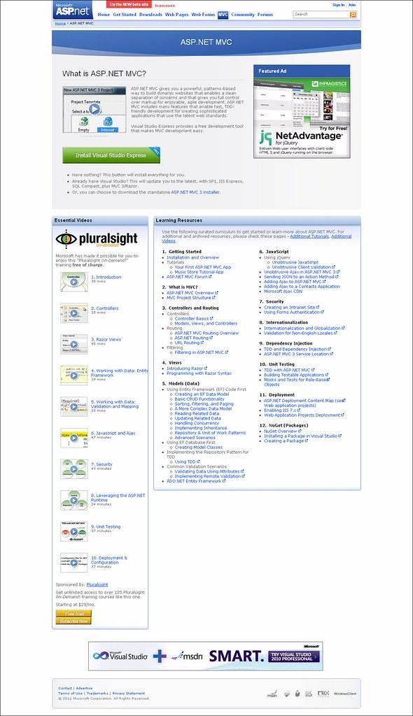 asp.net site - MVC page