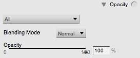 Opacity settings