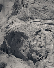 Sandstone, Valley of Fire State Park, Nevada (Tyler Westcott) Tags: statepark blackandwhite bw valleyoffire film monochrome sandstone desert nevada may largeformat ilfordfp4 2011 tachihara4x5