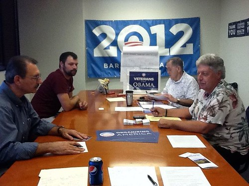Veterans for Obama at Phoenix HQ