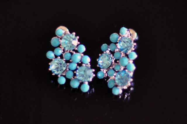 tplusj turquoise earrings