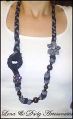 101020112538 (Lena & Dady Artesanato) Tags: tiara de lindo fuxico colar tecido malha trapilho