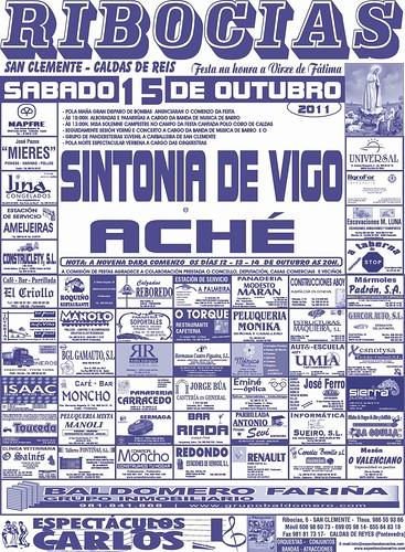 Caldas de Reis 2011 - Festas en Ribocias - cartel