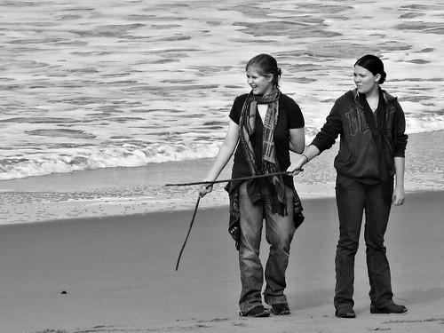 Friends on the Beach