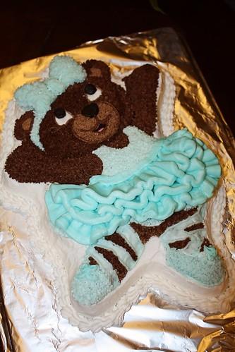 Ballerina bear cake