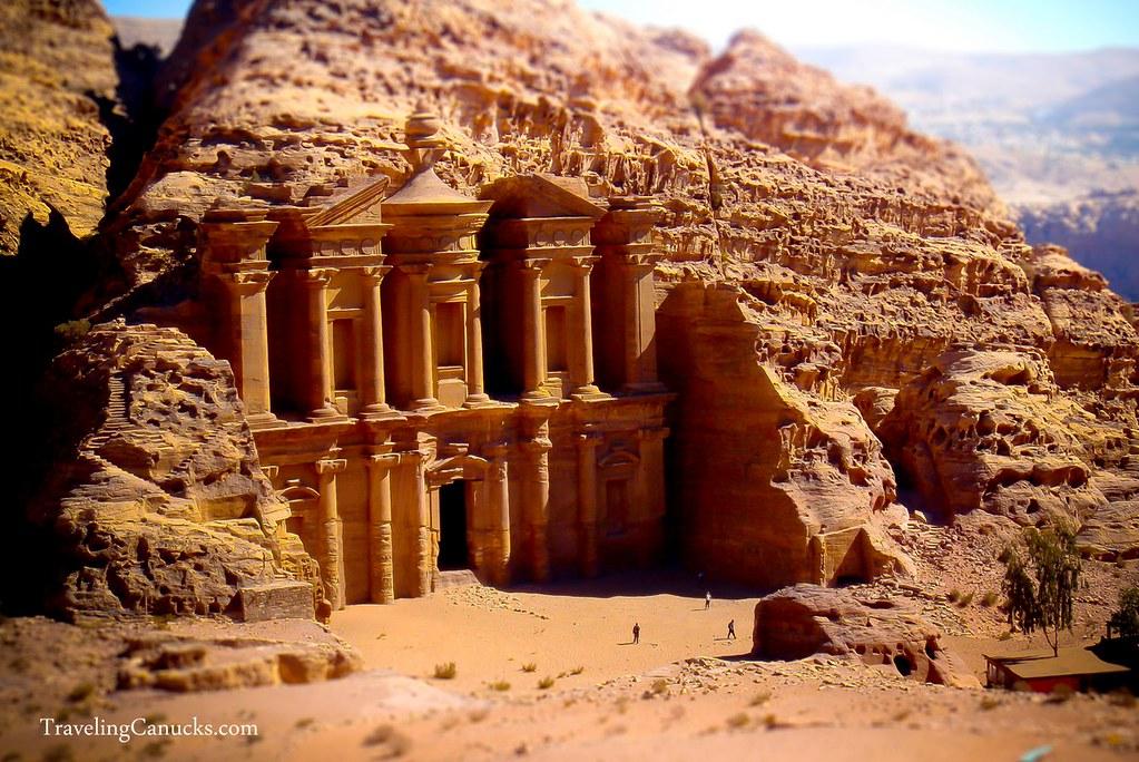 Petra Monastery Jordan Miniature