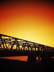 #sunset #riverside #bridge