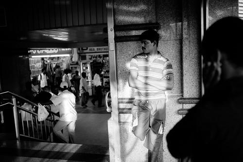 Man in the Light, Little India MRT Station, Singapore