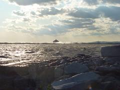 Buffalo, NY Lake Erie and the Buffalo Water Intake Crib (army.arch) Tags: ny newyork water buffalo waves crib intake breakwater eriebasinmarina