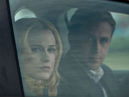 Ryan Gosling and Evan Rachel Wood sitting in a car
