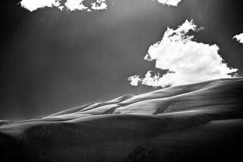 無料写真素材, 自然風景, 砂漠, モノクロ, 風景  アメリカ合衆国