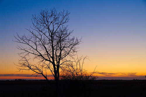 Prairie fall sunset