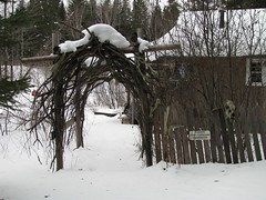 The arbor before my cabin....... (~ CRAIGER~) Tags: trees wild camp forest woodland skulls cabin woods peace witch spirit earth wildlife magic prayer north mother moose east swamps swamp wise bones brook shack spirituality wisdom northern voodoo motherearth backwoods keeper