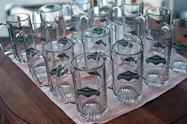 GIB brewmaster dinner souvenir glasses