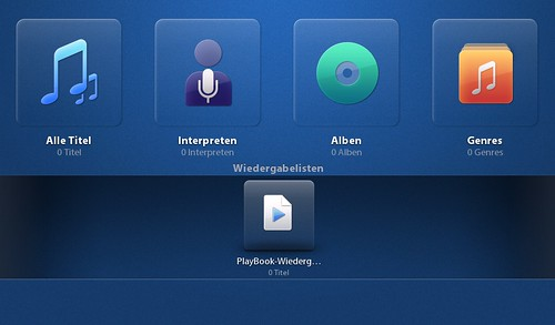 Playbook Musikplayer