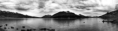 Pano - Lake Wakitipu, Queenstown (tahni~maree) Tags: newzealand bw panorama lake snow mountains lakewakitipu