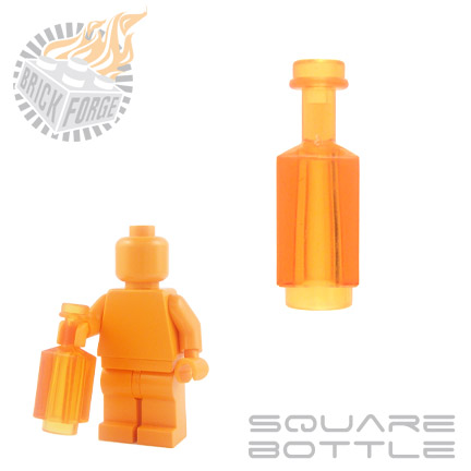 Square Bottle - Trans Orange