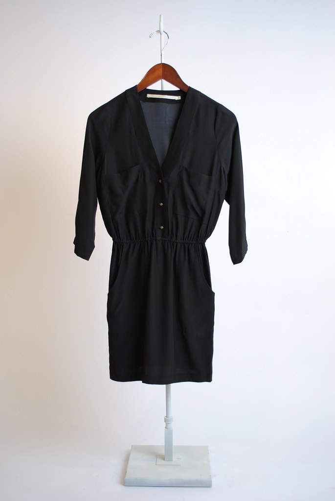 Placket Front Shirt Dress
