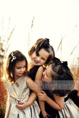 (Rebecca812) Tags: family girls sunset portrait brown beautiful smile grass kids sisters children fun happy evening goodness warm play dress sweet cousins joy innocent tan harvest dressup laugh fancy prairie idyllic hair