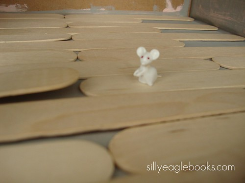 popsicle stick dollhouse floor