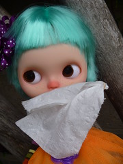 BUT TIGERLILY, THAT'S WHAT I DO!!! (Blythesighted) Tags: blythe clone sniffles