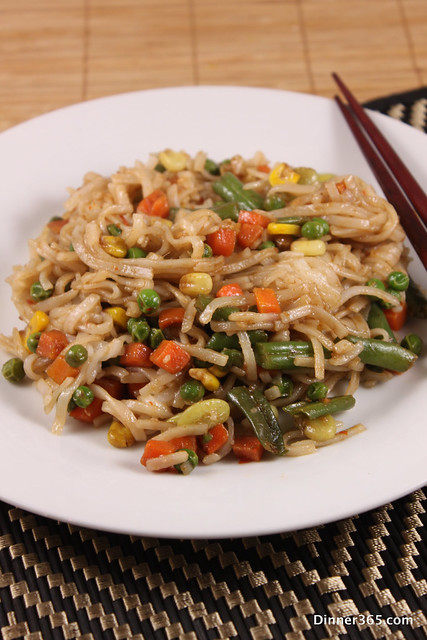 Day 301 - Mixed Veggie Rice Noodles