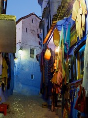 Chefchaouen by Night, Morocco (monika schaible) Tags: travel northafrica morocco chefchaouen bluecity