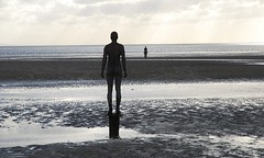 Anthony Gormley, Another Place, Crosby #1 (Annie Cholewa) Tags: ironman gormley crosby anotherplace