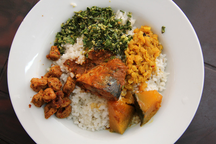 Sri Lankan Fish Curry and Rice