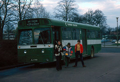 MBS 4 Crawley Bus Station slide dated April 1977 (national_bus_510) Tags: nbc crawley aec nationalbuscompany londoncountry strachans aecswift mbsclass lcbs