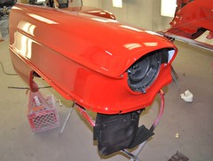 "1956 Series 62 Red Convertible Cadillac restoration • <a style=""font-size:0.8em;"" href=""http://www.flickr.com/photos/85572005@N00/6302989001/"" target=""_blank"">View on Flickr</a>"