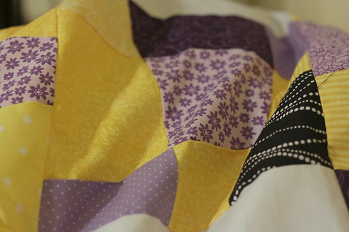 LSU Quilt Top Close Up