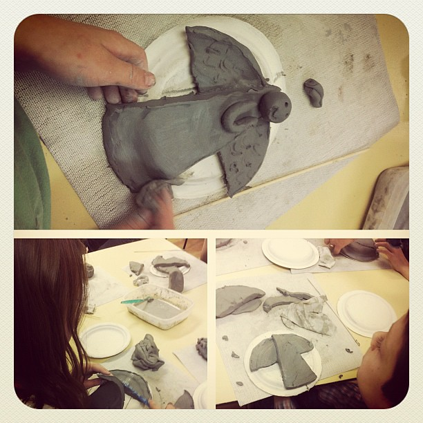 Pottery class.
