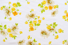 Vintage Sheet - Yellow Daisy Floral (Jeni Baker) Tags: floral vintage recycled sheets fabric repurposed bedsheet reused