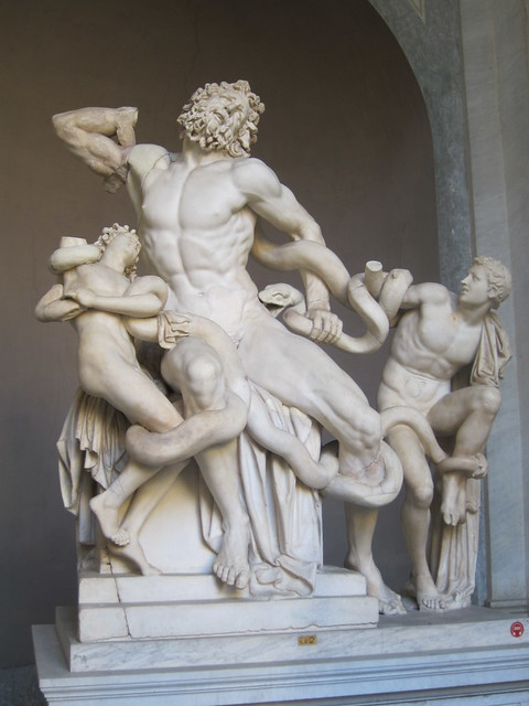 Laocoön and His Sons (Laocoön group)- collection of Vatican Museum