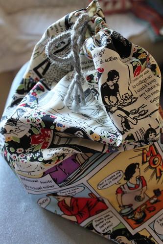 Saco para projectos de tricot