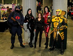 Cobra cosplay including the Baroness and Serpentor at Comikaze Expo 2011